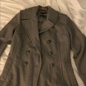 Express grey pea coat!